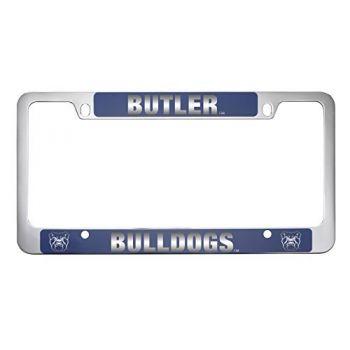 Butler University -Metal License Plate Frame-Blue