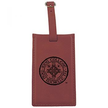 Iona College-Leatherette Luggage Tag-Burgundy [Paperback]