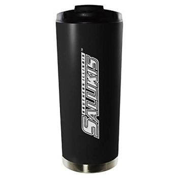 Southern Illinois University Carbondale-16oz. Stainless Steel Vacuum Insulated Travel Mug Tumbler-Black