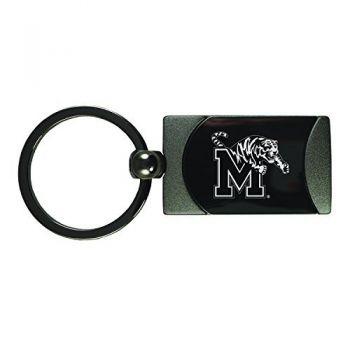 University of Memphis-Two-Toned Gun Metal Key Tag-Gunmetal