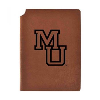 Mercer University Velour Journal with Pen Holder|Carbon Etched|Officially Licensed Collegiate Journal|
