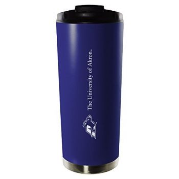 University of Akron-16oz. Stainless Steel Vacuum Insulated Travel Mug Tumbler-Blue
