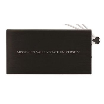 8000 mAh Portable Cell Phone Charger-Mississippi Valley State University -Black