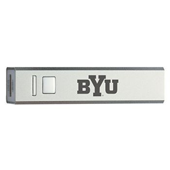 Brigham Young University - Portable Cell Phone 2600 mAh Power Bank Charger - Silver