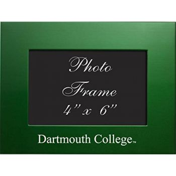 Dartmouth College - 4x6 Brushed Metal Picture Frame - Green