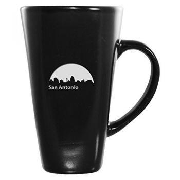 16 oz Square Ceramic Coffee Mug - San Antonio City Skyline