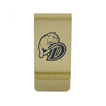 University of Detroit Mercy|Money Clip with Contemporary Metals Finish|Solid Brass|High Tension Clip to Securely Hold Cash, Cards and ID's|Silver