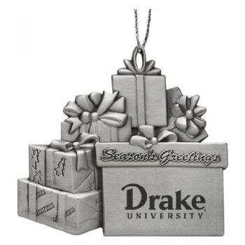 Drake University - Pewter Gift Package Ornament