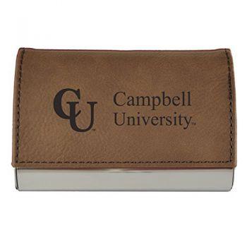 Velour Business Cardholder-Campbell University-Brown