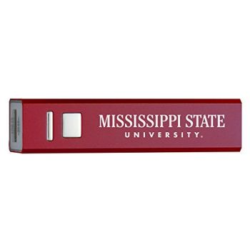Mississippi State University - Portable Cell Phone 2600 mAh Power Bank Charger - BURundy