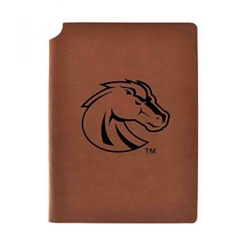 Boise State University Velour Journal with Pen Holder|Carbon Etched|Officially Licensed Collegiate Journal|