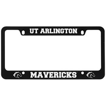 University of Texas at Arlington -Metal License Plate Frame-Black