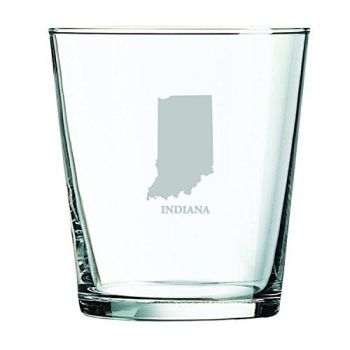13 oz Cocktail Glass - Indiana State Outline - Indiana State Outline