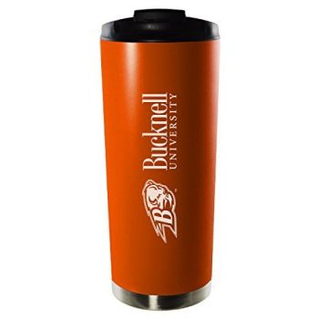 Bucknell University-16oz. Stainless Steel Vacuum Insulated Travel Mug Tumbler-Orange