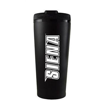 Siena College-16 oz. Travel Mug Tumbler-Black