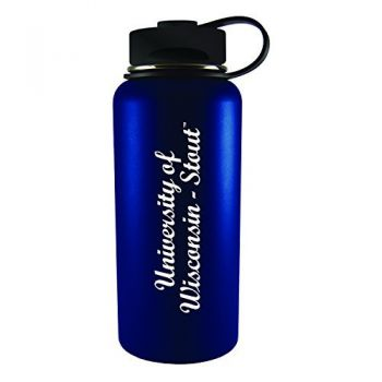 University of Wisconsin-Stout-32 oz. Travel Tumbler-Blue