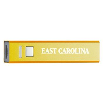 East Carolina University - Portable Cell Phone 2600 mAh Power Bank Charger - Gold