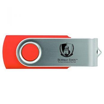Buffalo State University - The State University of New York -8GB 2.0 USB Flash Drive-Orange