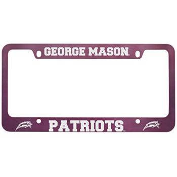 George Mason University -Metal License Plate Frame-Pink
