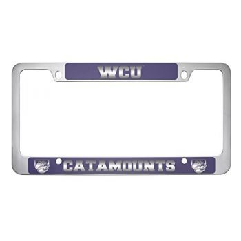 Western Carolina University -Metal License Plate Frame-Purple