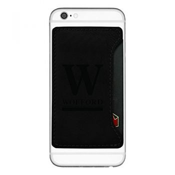 Wofford College-Cell Phone Card Holder-Black