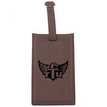 Tennessee Technological University -Leatherette Luggage Tag-Brown
