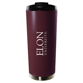 Elon University-16oz. Stainless Steel Vacuum Insulated Travel Mug Tumbler-Burgundy