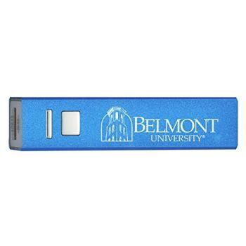 Belmont University - Portable Cell Phone 2600 mAh Power Bank Charger - Blue
