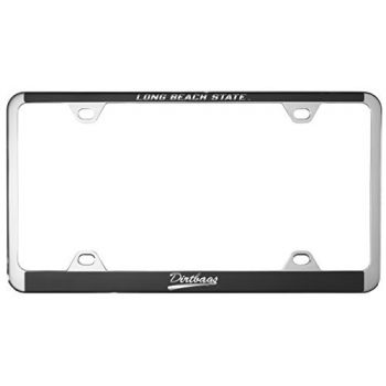 Long Beach State University -Metal License Plate Frame-Black
