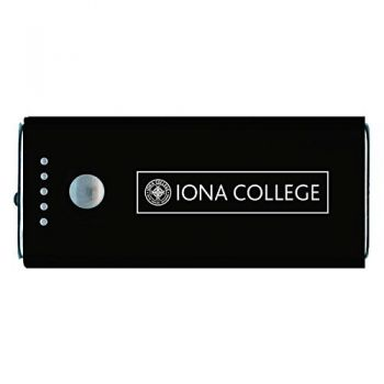 Iona College-Portable Cell Phone 5200 mAh Power Bank Charger -Black