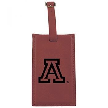 Arizona Wildcats -Leatherette Luggage Tag-Burgundy