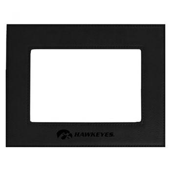 University of Iowa-Velour Picture Frame 4x6-Black