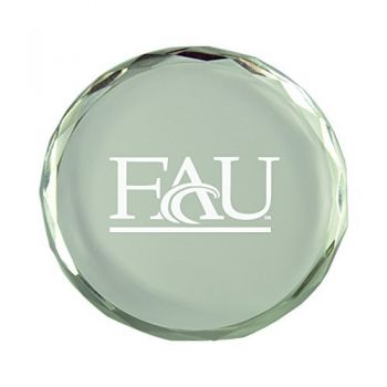 Florida Atlantic University-Crystal Paper Weight