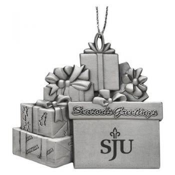 Saint Joseph's University - Pewter Gift Package Ornament