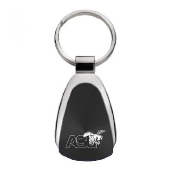 Alabama State University - Teardrop Keychain - Black