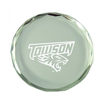 Towson University-Crystal Paper Weight