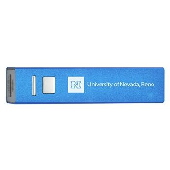 University of Nevada, Reno - Portable Cell Phone 2600 mAh Power Bank Charger - Blue
