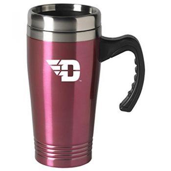 University of Dayton-16 oz. Stainless Steel Mug-Pink