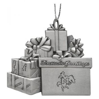 McNeese State University - Pewter Gift Package Ornament