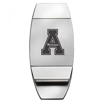 Appalachian State University - Two-Toned Money Clip - Silver