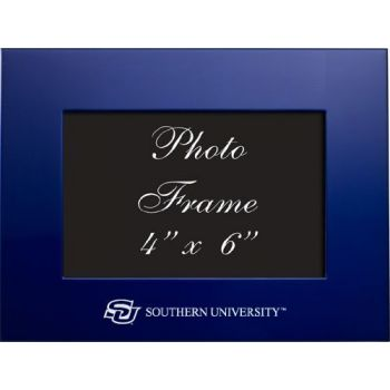 Southern University and A&M College - 4x6 Brushed Metal Picture Frame - Blue