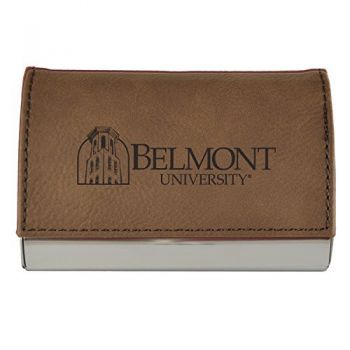 Velour Business Cardholder-Belmont University-Brown
