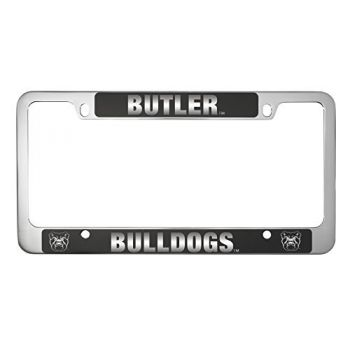 Butler University -Metal License Plate Frame-Black