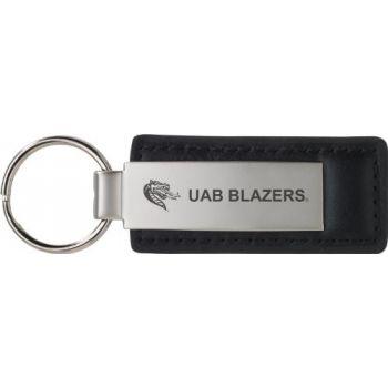 University of Alabama at Birmingham - Leather and Metal Keychain - Black