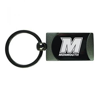 Monmouth University -Two-Toned Gun Metal Key Tag-Gunmetal