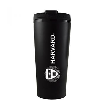 Harvard University -16 oz. Travel Mug Tumbler-Black