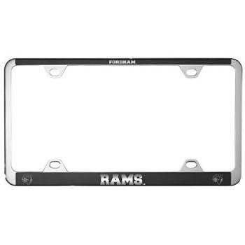 Fordham University-Metal License Plate Frame-Black