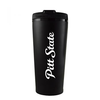 Pittsburg State University -16 oz. Travel Mug Tumbler-Black