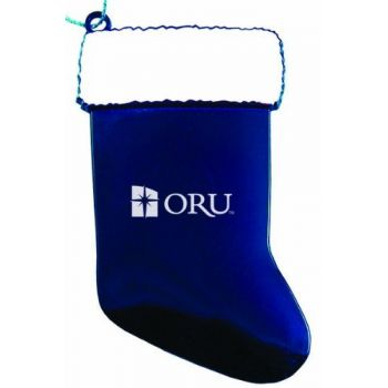 Oral Roberts University - Christmas Holiday Stocking Ornament - Blue