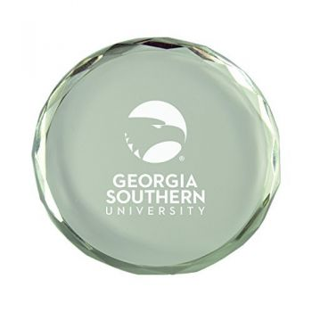 Georgia Southern University-Crystal Paper Weight